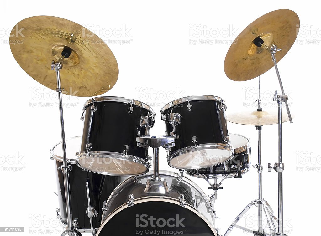 drum set on white four royalty-free stock photo