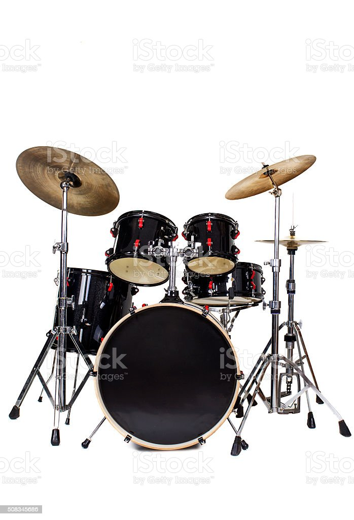 drum set on white stock photo