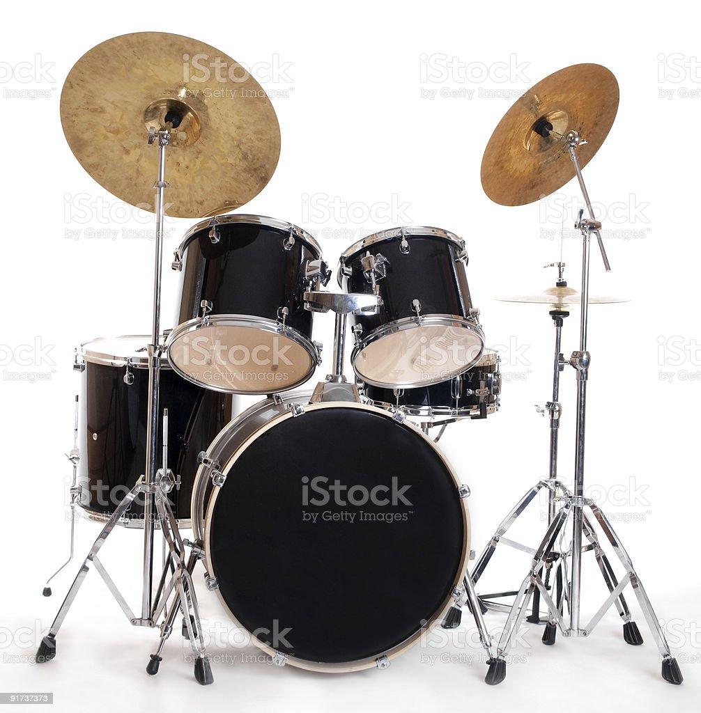drum set on white stock photo