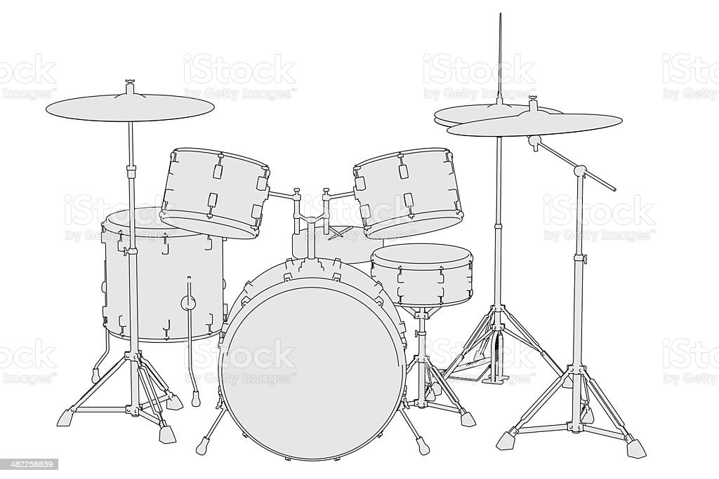 drum set royalty-free stock photo