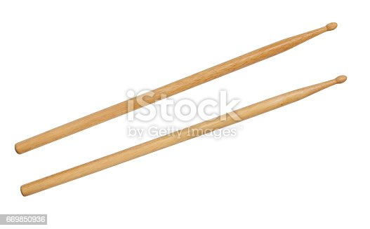 Drum stick isolated on a white background