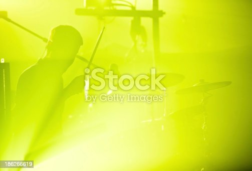 istock Drumer in silhouette 186266619
