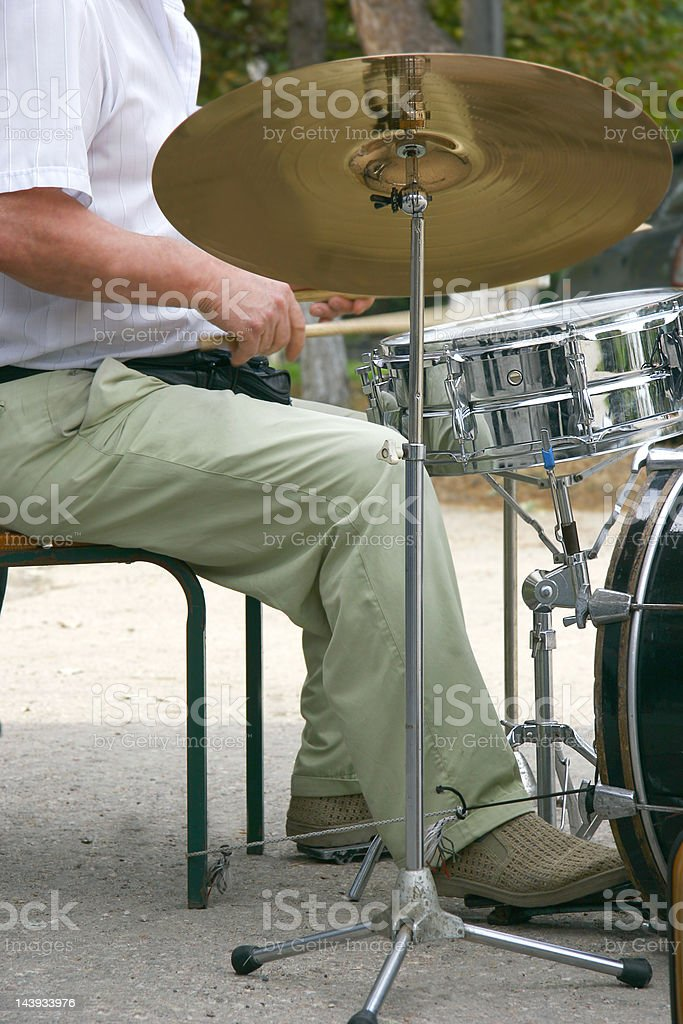 drummer at drum set royalty-free stock photo