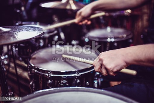 Drummer Hitting Some Snare Drum Rolls