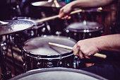 Drummer Hitting Some Snare Drum Rolls