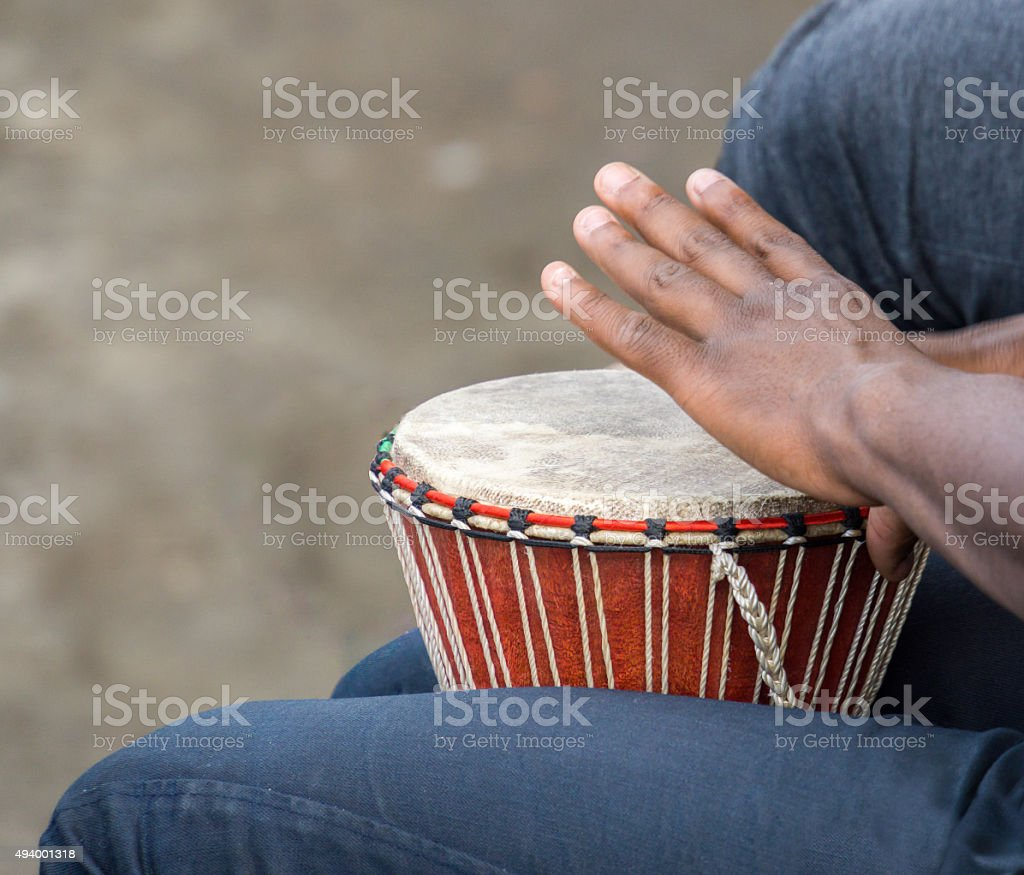 Drummer in Montreal stock photo