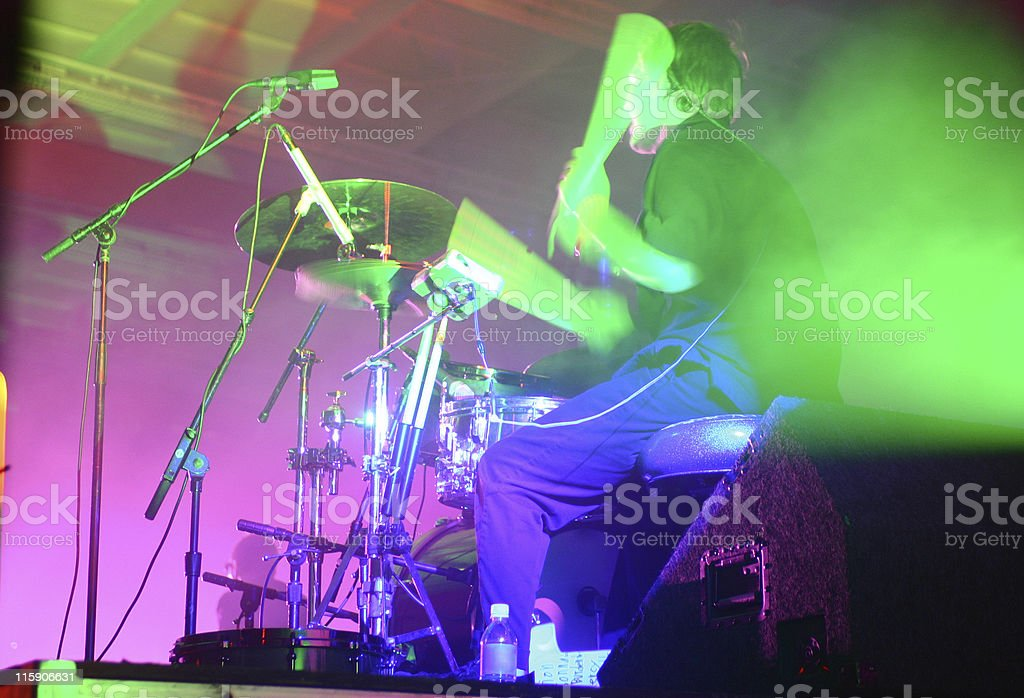 Drummer instensity stock photo