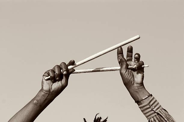 a drummer's hands - reggae stok fotoğraflar ve resimler