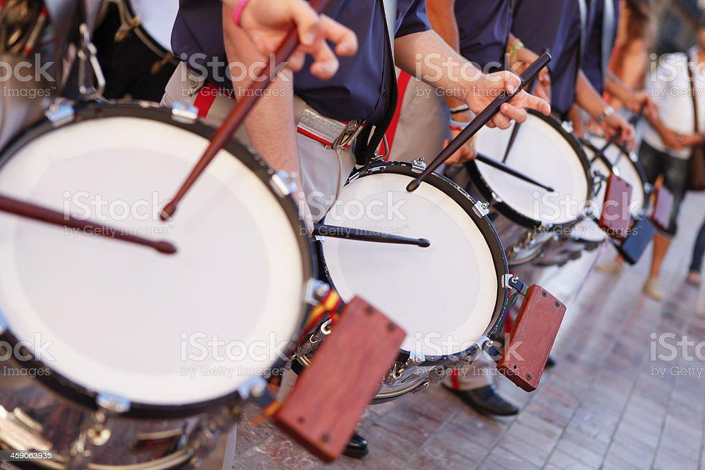 Drummers in Parade stock photo
