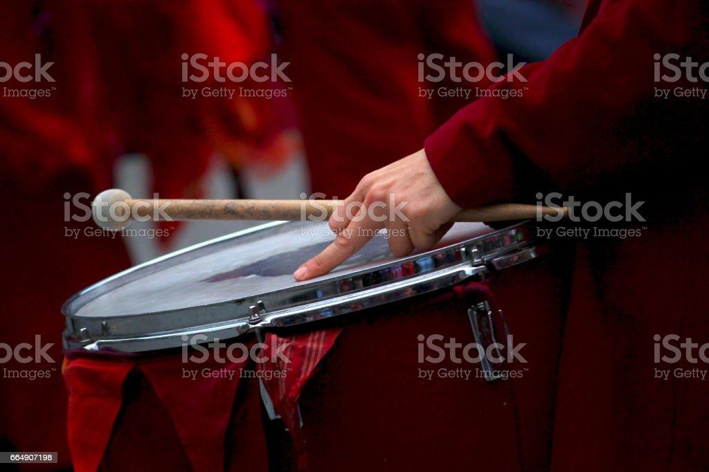 Drumming at pause stock photo
