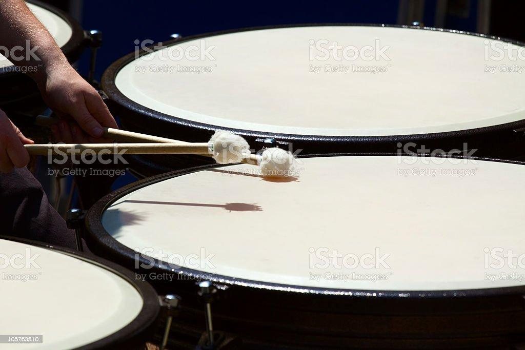 Drumming royalty-free stock photo