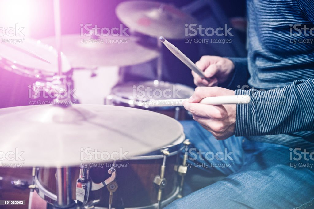 Drums- Fragment drumset stock photo