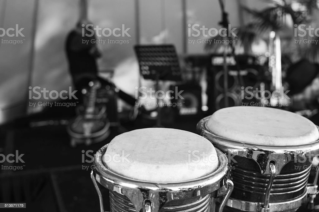 Drums - Gig setup stock photo