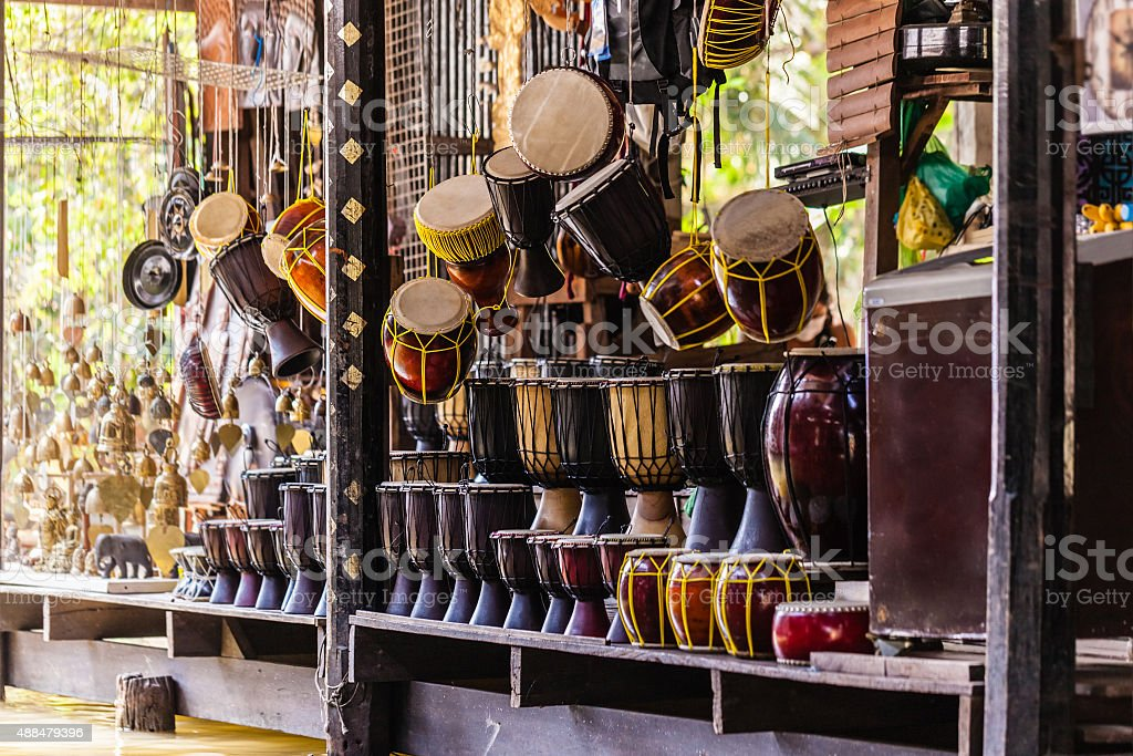 Drums in Thailand stock photo