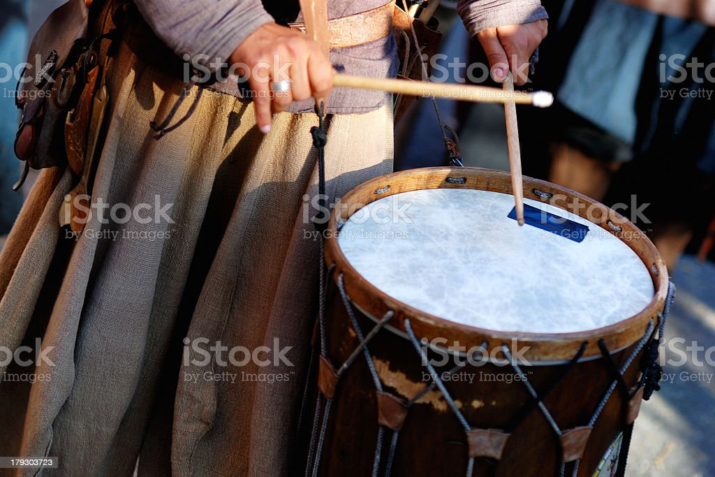 Drums in the street stock photo