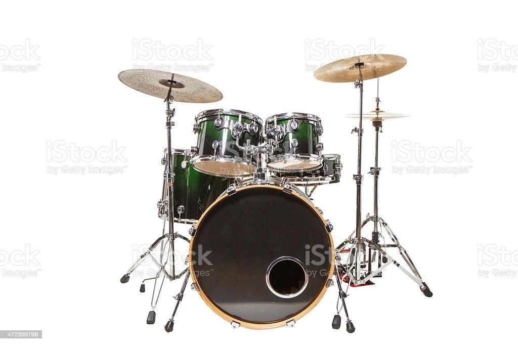 Trommeln auf weißem Hintergrund – Foto