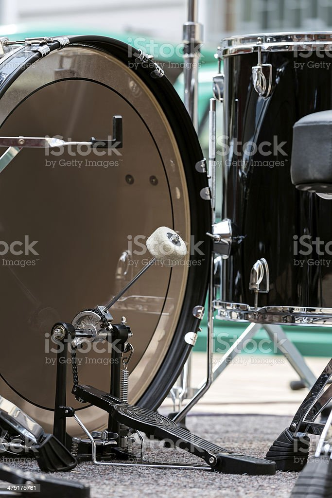 Drums on stage stock photo