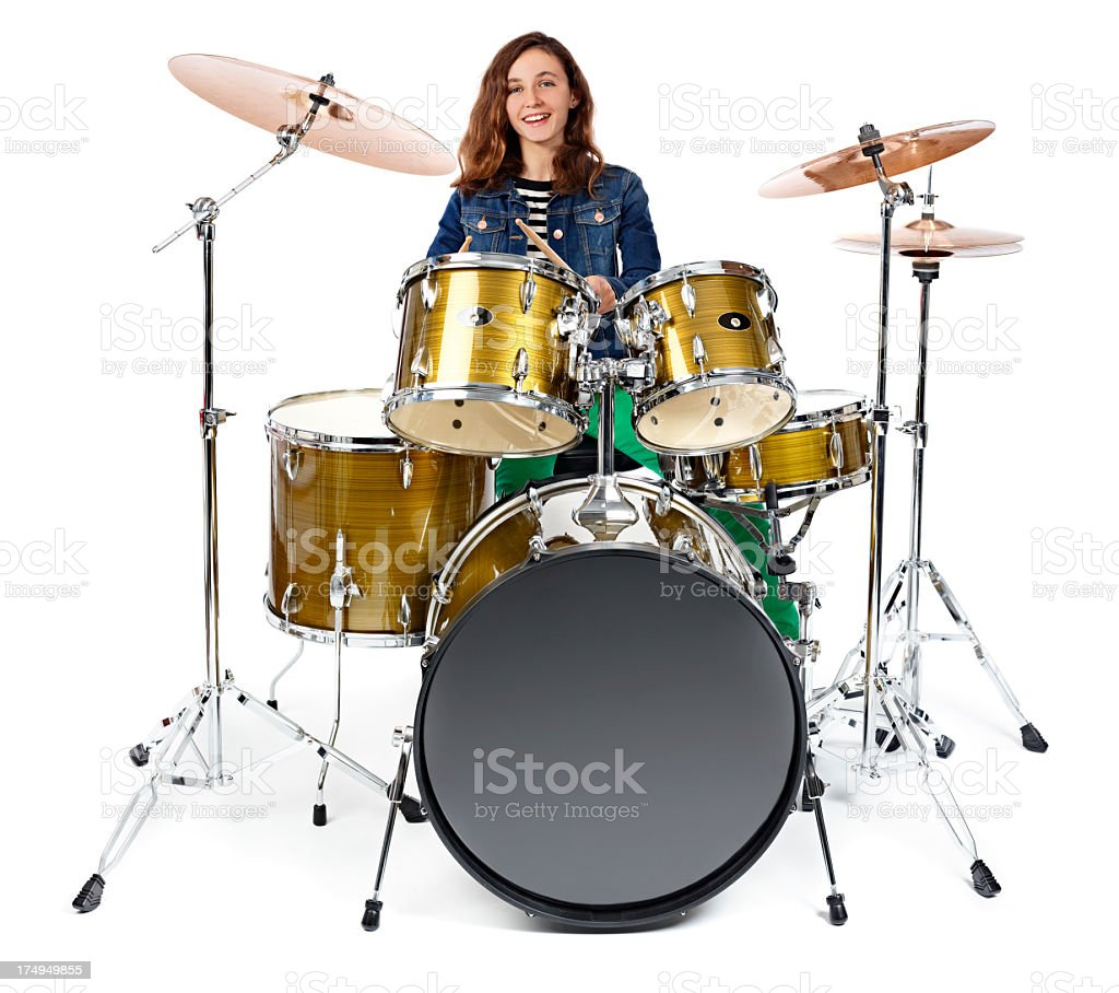 girl playing drums - HD 1024×908