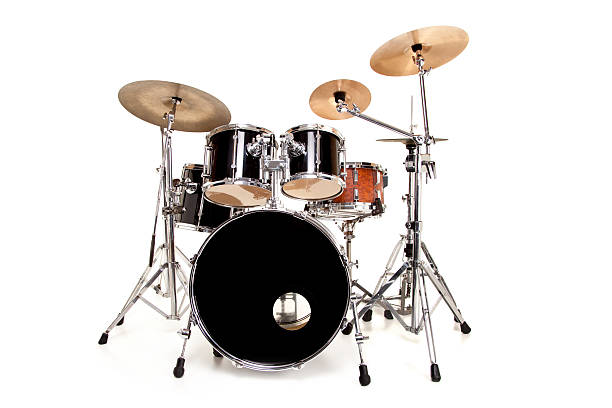 Drums Drum Set Isolated on White  drum kit stock pictures, royalty-free photos & images