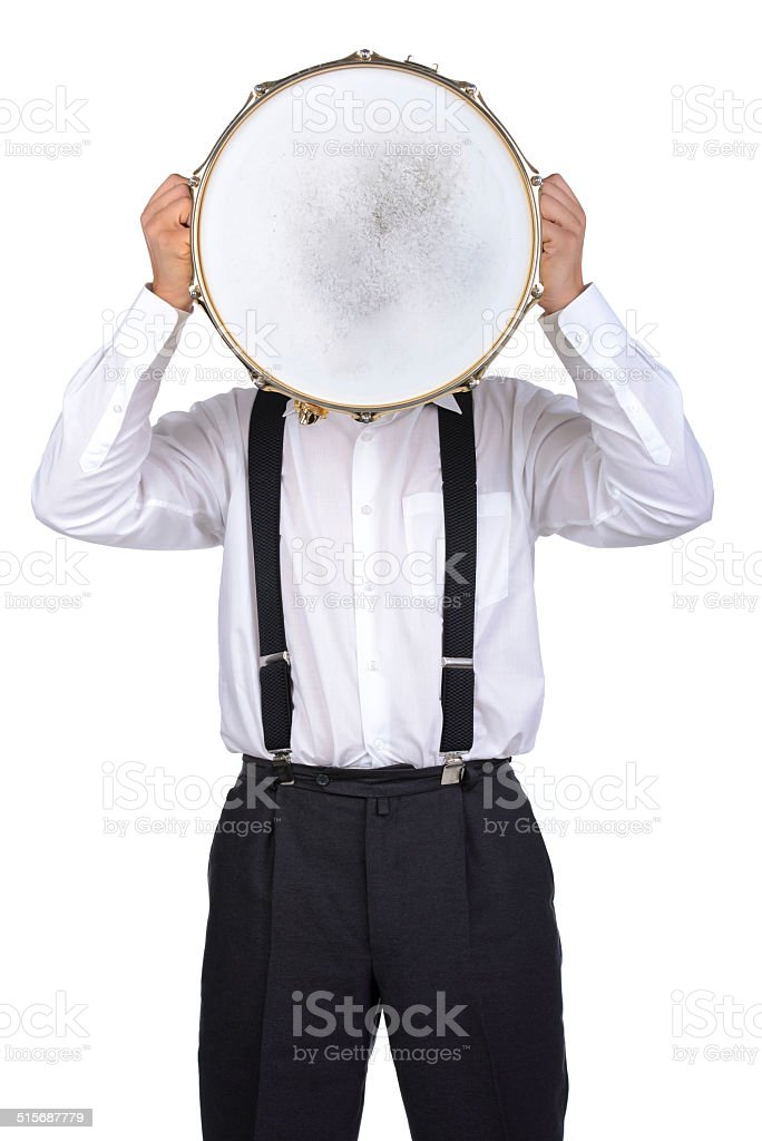 Drums player stock photo