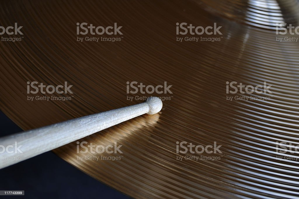 Drumstick and Cymbal royalty-free stock photo