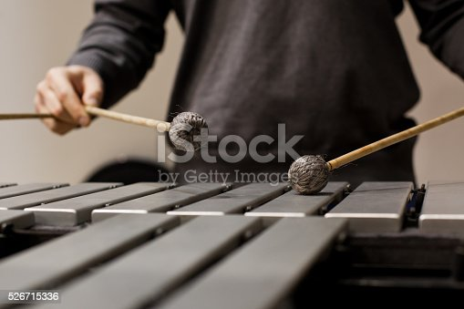 istock Drumsticks hits the vibraphone 526715336