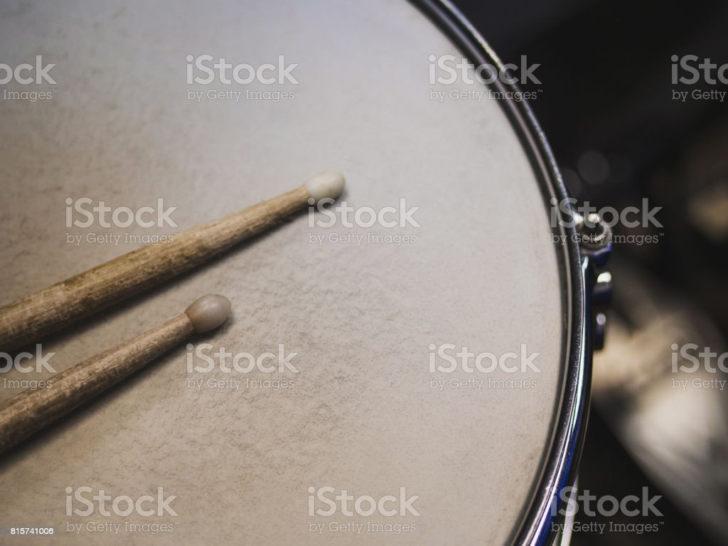 Drumsticks on a black background. Beautiful drumsticks stock photo