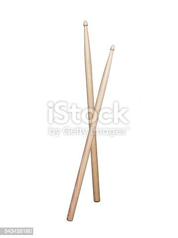 Drumsticks on white background