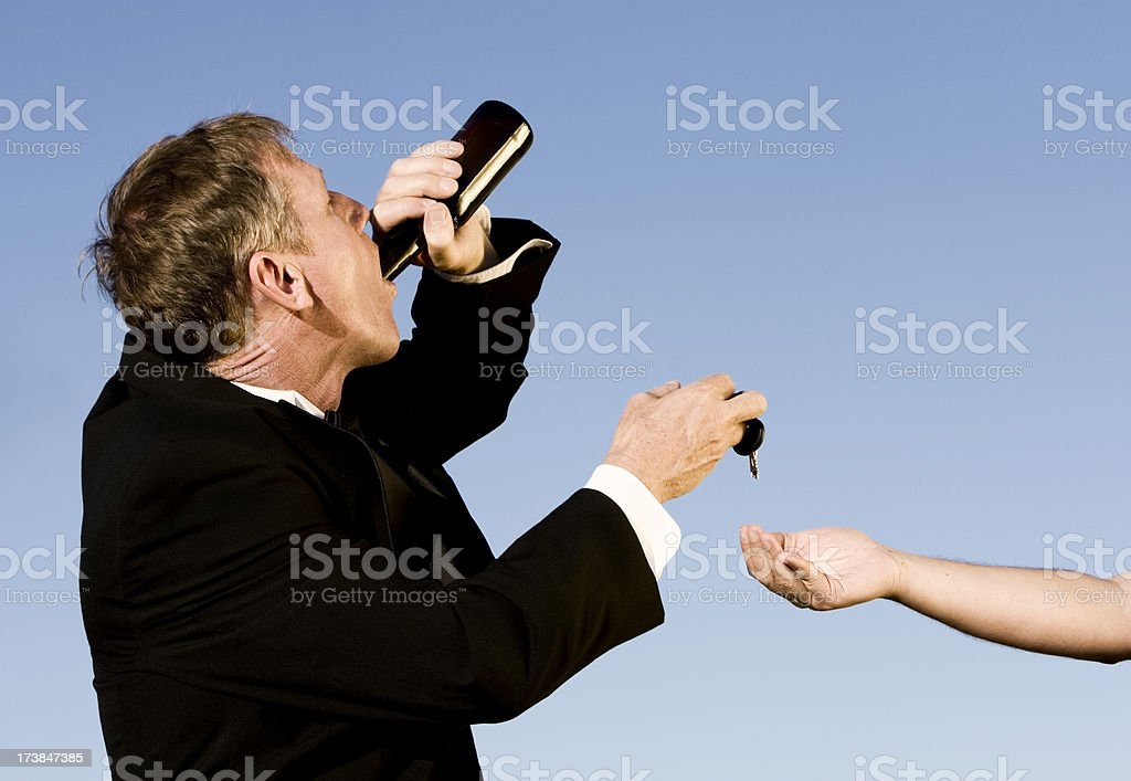 Drunk and Designated Driver royalty-free stock photo
