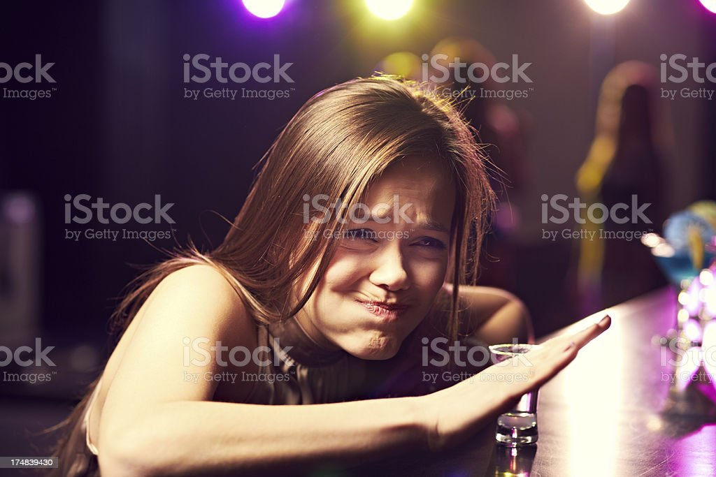 Drunk at party royalty-free stock photo