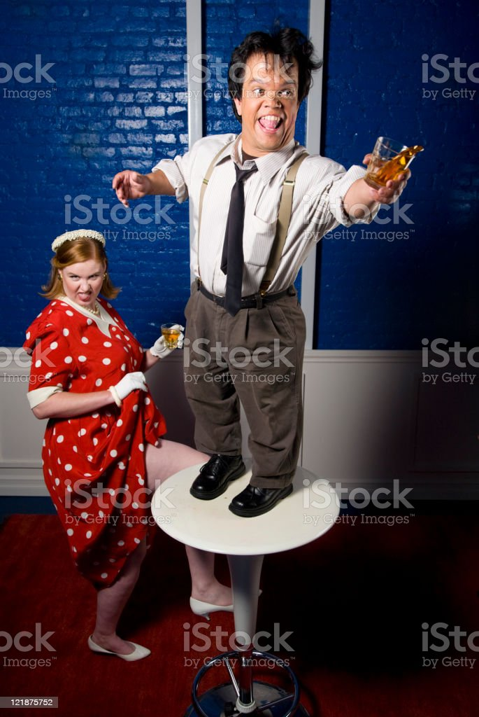 Drunk at the Office Party stock photo