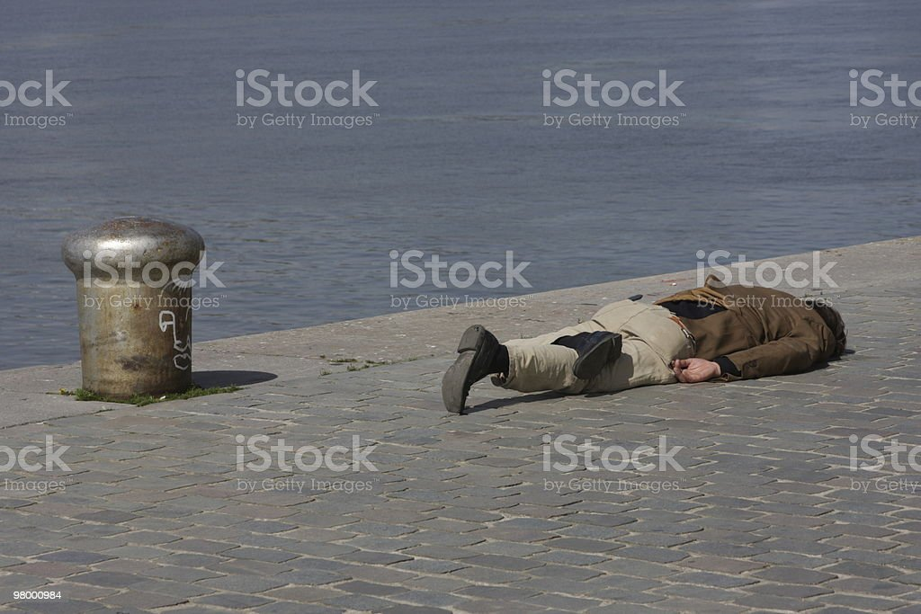 Drunk at the Quay royalty-free stock photo