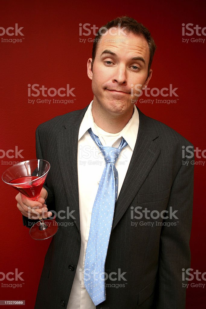 Drunk Business Man royalty-free stock photo