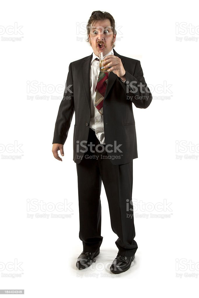 Drunk Business Man stock photo
