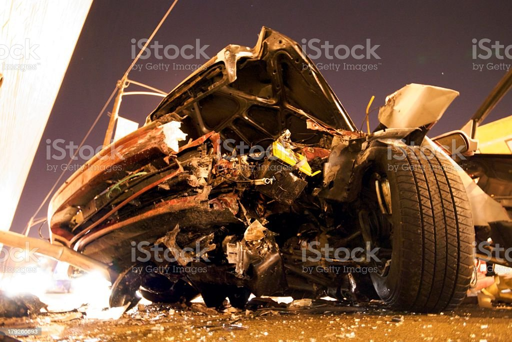 Drunk driving accident stock photo