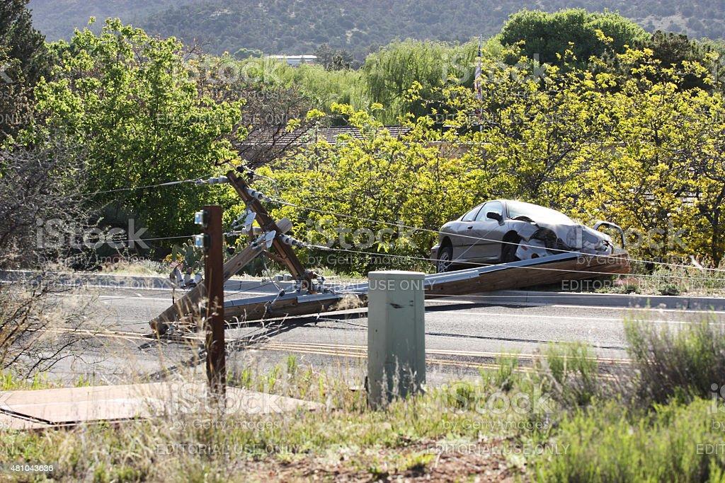 Drunk Driving Car Crash Accident stock photo