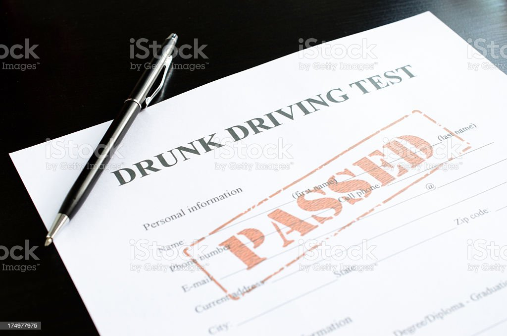 drunk driving test - passed royalty-free stock photo