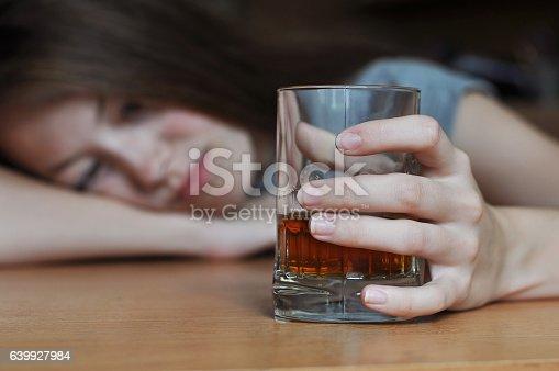 istock Drunk female addict 639927984