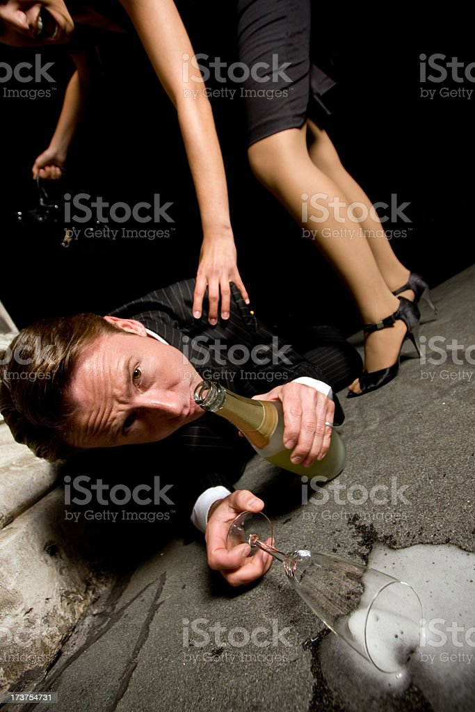 drunk guy royalty-free stock photo