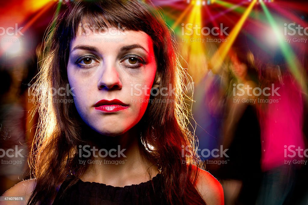 Drunk or High at a Nightclub stock photo