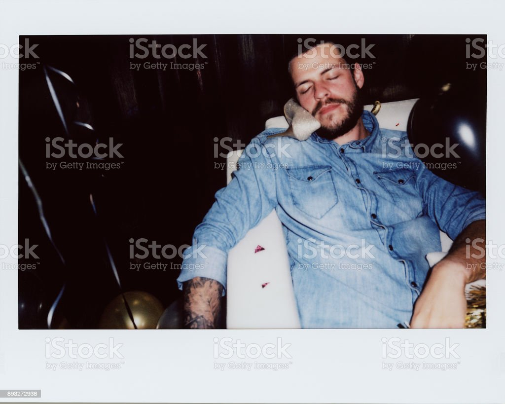 Drunk people in a party stock photo