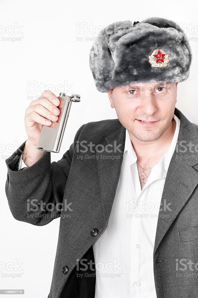 Drunk Russian Man royalty-free stock photo
