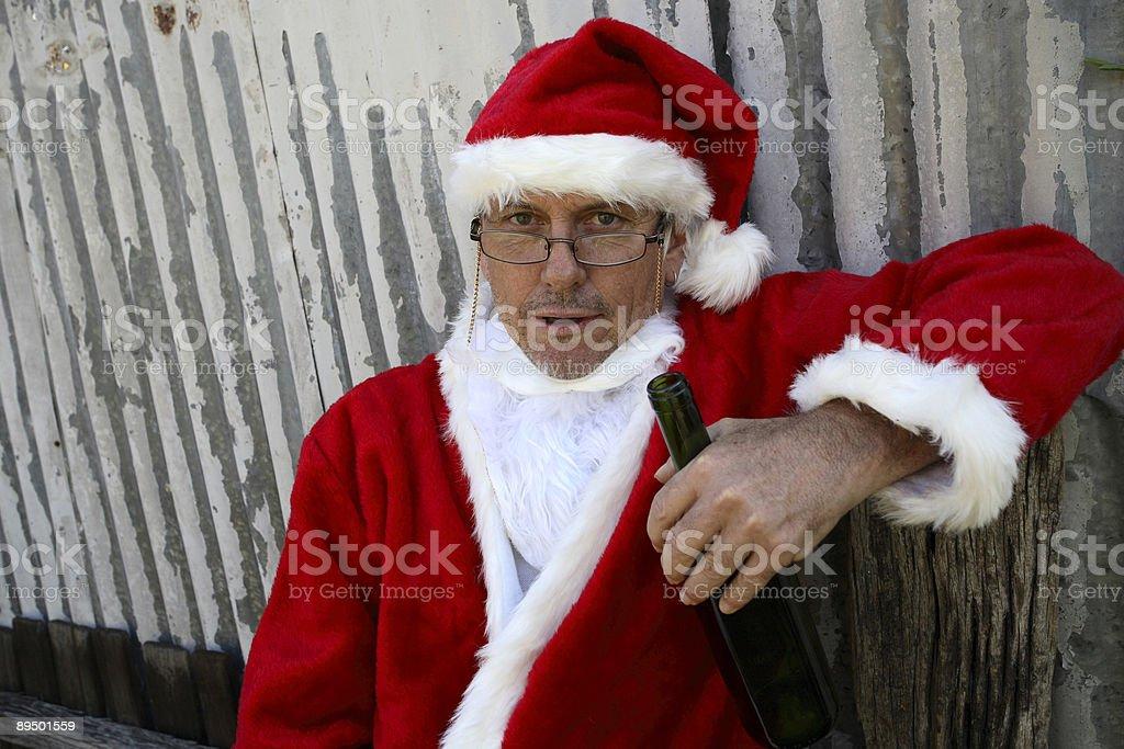Ivre Santa photo libre de droits