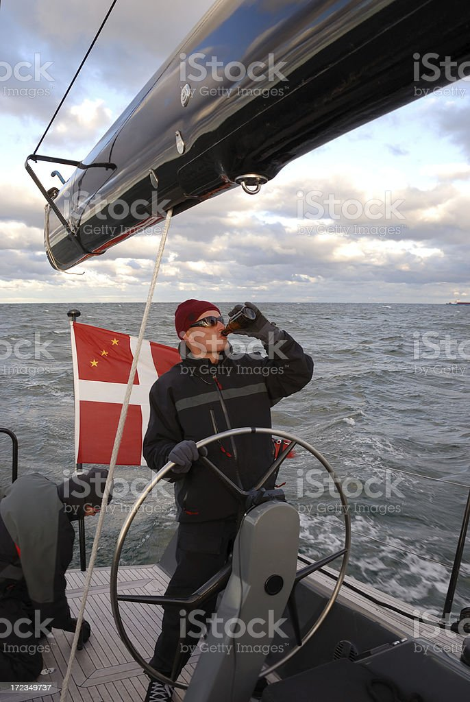 drunk skipper royalty-free stock photo