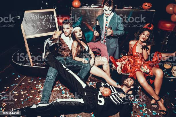 Drunk young people in costumes resting after party picture id1053444846?b=1&k=6&m=1053444846&s=612x612&h=8zknuswju 2k8fg7pxnkre2mgrc2fq k drcxa xyje=