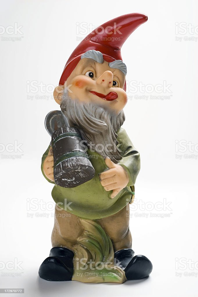 Drunken Gnome royalty-free stock photo