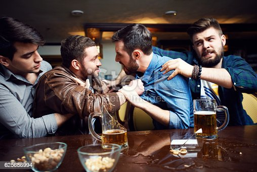 Drunken Men Fighting In Pub Stock Photo Amp More Pictures Of