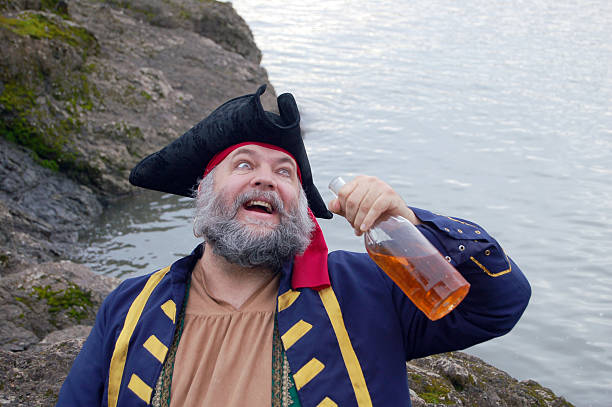 drunken pirate - swashbuckler stock photos and pictures