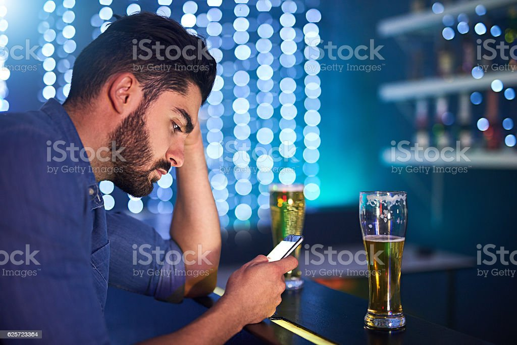 Drunken texts are never a good idea stock photo