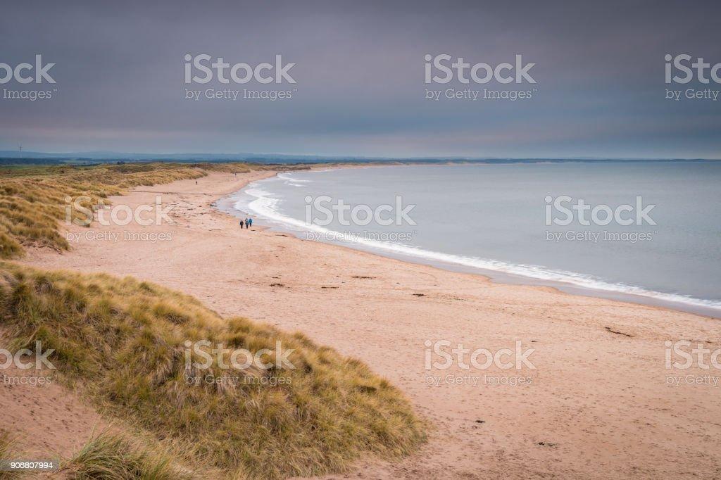 Druridge Bay Beach stock photo